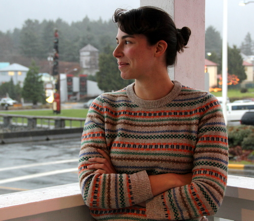Originally from New Jersey, and most recently a resident of Oakland, California, Waldholz says the rain is one of the many things she likes about Sitka. (KCAW photo/Emily Forman)