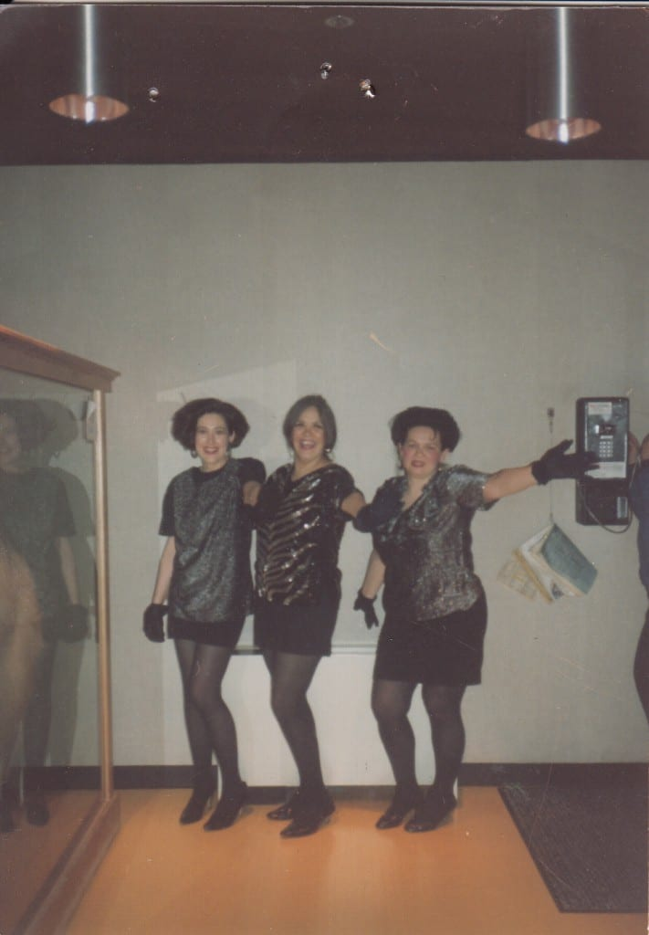 Leandra (Mary) Baker (L) Kathy Hope Erickson (C) and Laurie Cropley (R) dressed as The Pointer Sisters circa 1991.