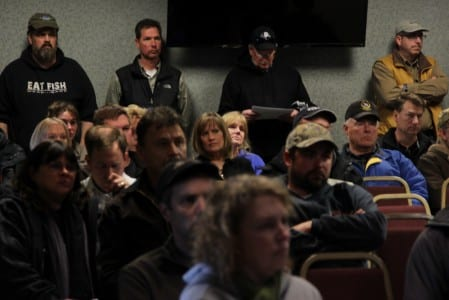 Fishermen and processors listened to an update on the herring fishery from the ADF&G on Wednesday, March 19.
