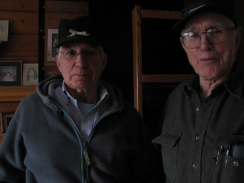 Bob Allen (right) was on a fishing boat near Kodak during Alaska's 1964 earthquake. Allen brother Jack (left) was a State Trooper in Anchorage.