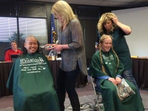 The Sitka Assembly took some time out from their usual business on Tuesday to recognize local volunteers…and in the process, turned Centennial Hall into a temporary barbershop. KCAW's Rachel Waldholz has more.