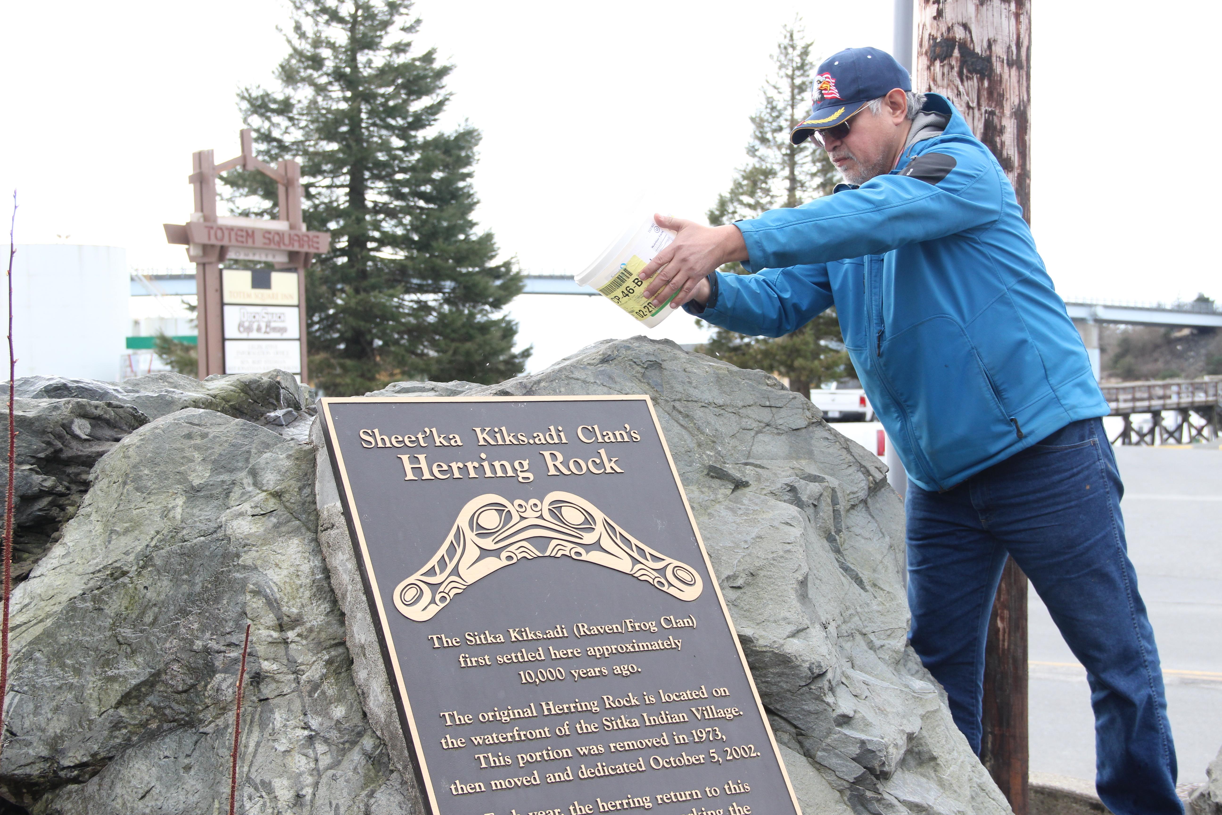 Ceremony at Herring Rock honors seasonal renewal