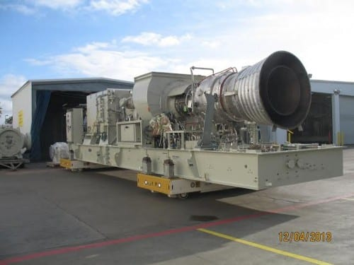 Rocket or diesel turbine? With added hydro capacity comes the need for added backup power. This Titan 130 diesel turbine will help keep Sitka powered in emergencies. (City of Sitka/Chris Brewton)