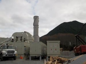 Housed, the Titan is less imposing -- but the stack is still 7-feet in diameter. (City of Sitka/Chris Brewton)