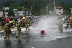 Sitka Fire Department v. Coast Guard water fight (KCAW/photo by Greta Mart)