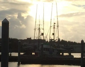 A troller in Sitka's ANB Harbor. The annual troll closure starts at midnight on Saturday. (KCAW photo/Rachel Waldholz)