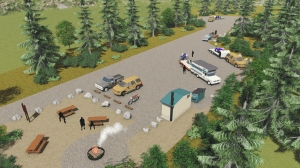 This image illustrates a proposed day-use area for the end of the new Katlian Bay Road. (Image courtesy of DOT)