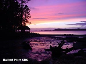 Sunset from Halibut Point State Recreation Area in Sitka. This park -- like others in Sitka -- will transfer into private management on July 1.