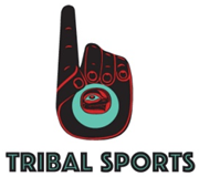 The new Tribal Sports logo, created by Tlingit and Aleut artists Nicolas Galanin.