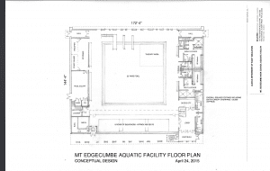 A conceptual floor plan for the Mt. Edgecumbe High School Aquatics Facility. Click to enlarge. Photo courtesy Department of Transportation of Public Facilities.