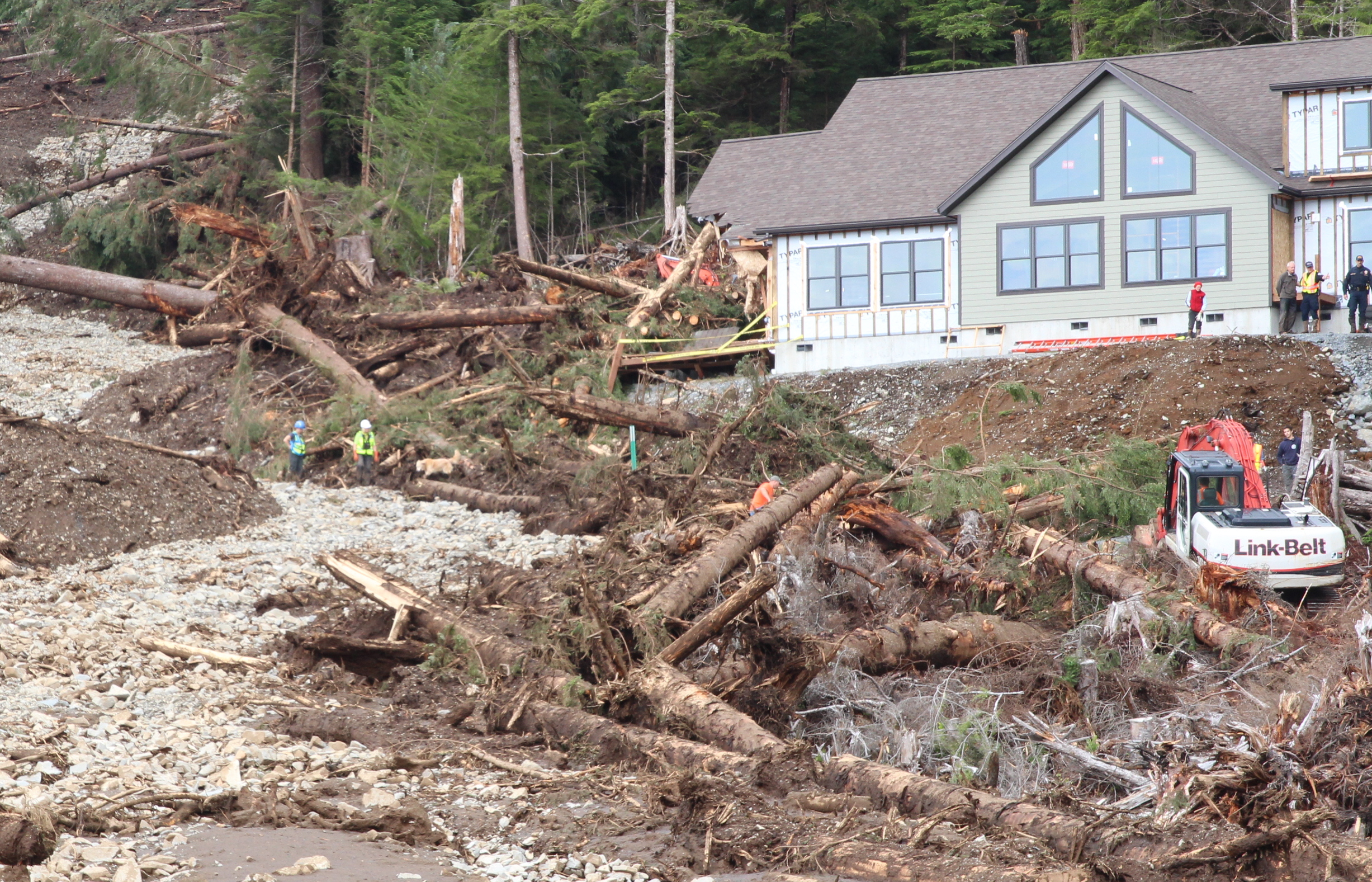 Two bodies recovered in Sitka slide, search continues for third