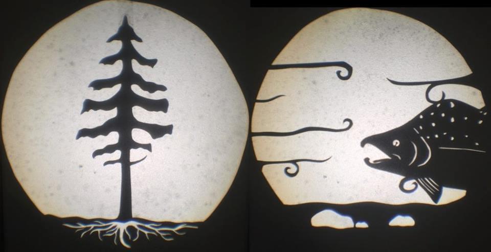 Artist spotlights trees in shadows