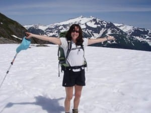 Mary Emerick, hiking on Lucky Chance Mt. near Sitka. (Facebook photo)