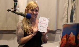 """Fellow Brielle Schaeffer makes a guest appearance on KCAW's """"Library Show."""""""
