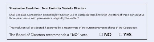 Board-endorsed and independent candidates are listed on Sealaska's 2016 proxy ballot.