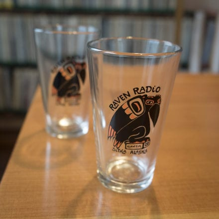 Raven Pint Glass