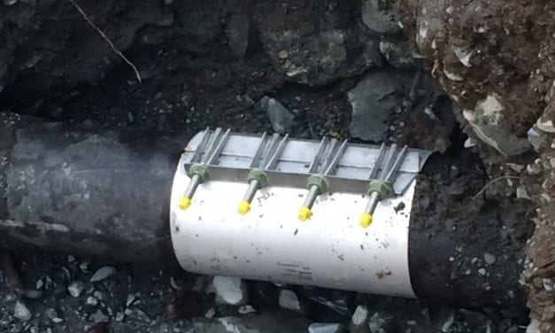 Old Sitka pipes break in town and at airport