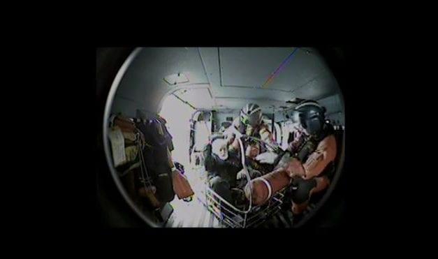 Video: Coast Guard medevacs man from fishing vessel