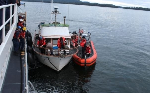 Coast Guard, Kake SAR tow pleasure craft 50 miles to safety