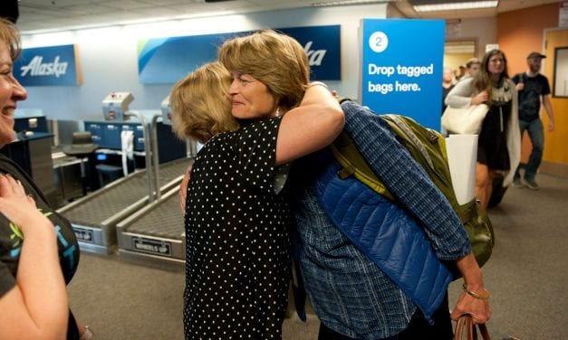 Murkowski in Sitka hours after critical health care vote