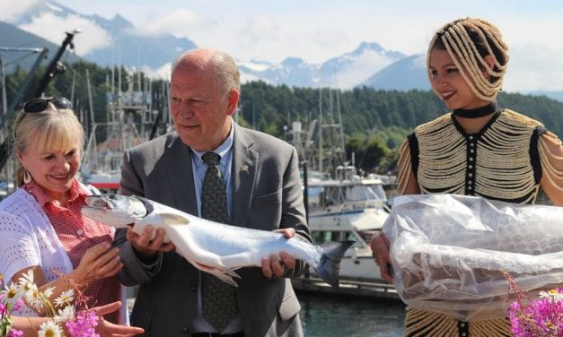 After signing wastewater bill, Governor Walker celebrates salmon