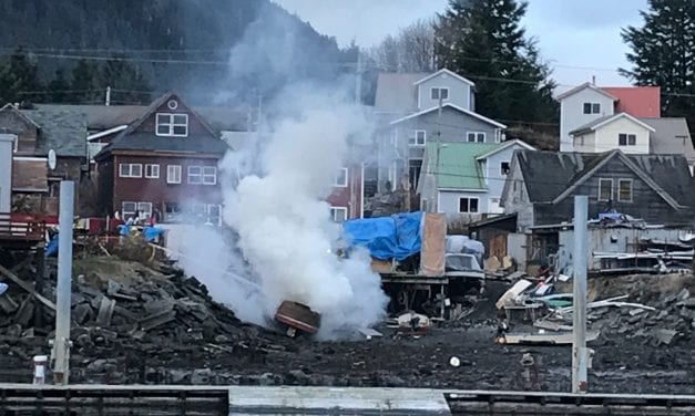 Legal burn goes boom on Sitka beach
