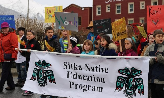 Sitkans march to honor Elizabeth Peratrovich