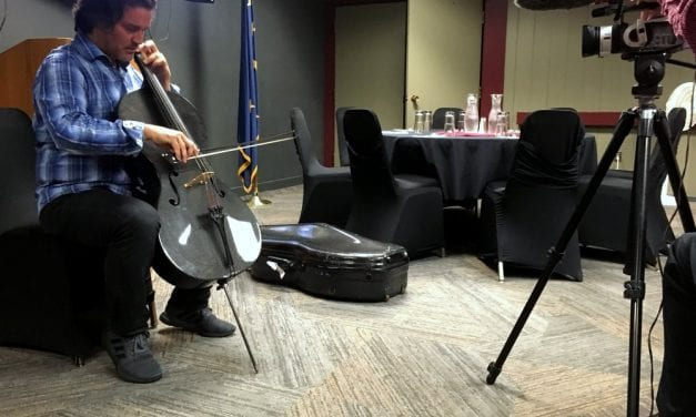 Where classical and Cash meet: Bailey's cello topples walls