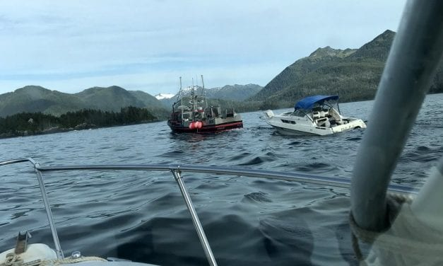 Video: Six rescued from sinking pleasure boat in Sitka Sound