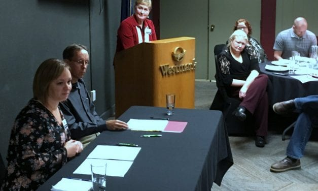 One down at Chamber, school board candidates meet next on air Thursday