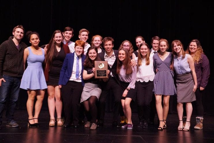 Sitka DDF participants won the Drama Award, the Debate Award and the Sweepstakes Award for the third year in a row in their division. (Photo courtesy of ASAA)