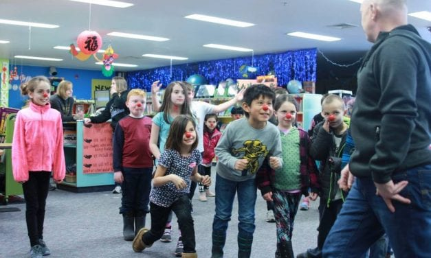With red noses and kindness, visiting teacher creates class full of clowns