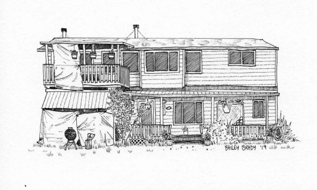 Sitka artist studies humans by drawing their homes