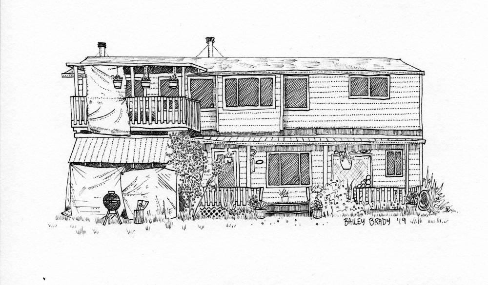 Magnificent Sitka Artist Studies Humans By Drawing Their Homes Kcaw Download Free Architecture Designs Scobabritishbridgeorg