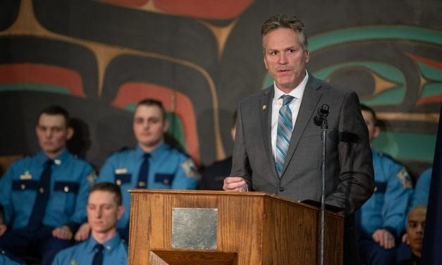 A first, Gov. Dunleavy attends Sitka Trooper graduation