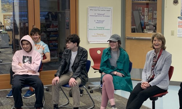 Murkowski circles up with Pacific High students